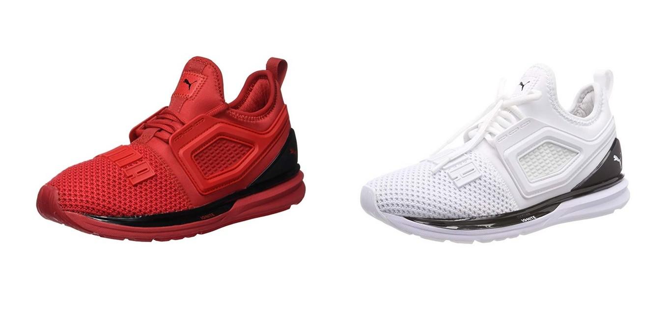 separation shoes 784a2 5c018 Tenemos las zapatillas deportivas Puma Ignite Limitless 2 en blanco o en  rojo por 43,96 euros en Amazon