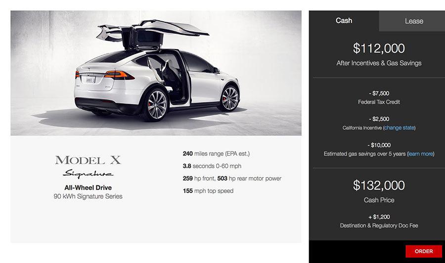 Configurando un Tesla Model X