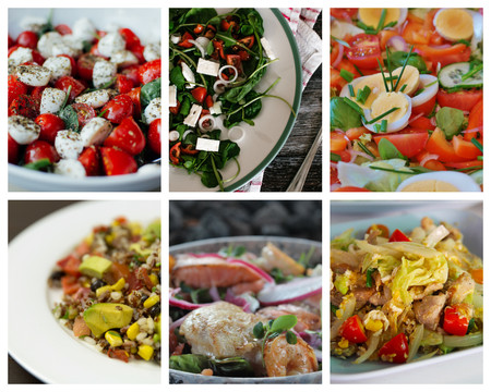 Cuatro tipos de proteínas que puedes utilizar para que tu ensalada sea más completa y saciante (y 24 recetas para disfrutarlas)