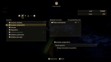 Fabricar amuletos en Tales of Arise