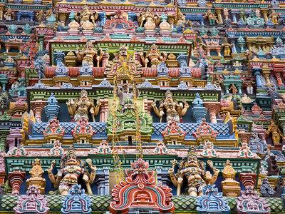 Meenakshi, el templo más colorista del mundo