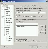 Especial software control remoto: Telnet