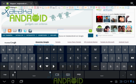 Thumb Keyboard para tablet