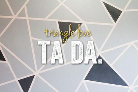 Pintar una pared con triángulos de forma sencilla
