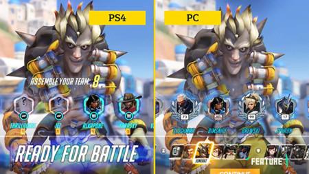 Dos versiones de Overwatch frente a frente PS4 vs PC