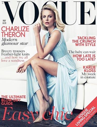 Espectacular Charlize Theron en Vogue UK