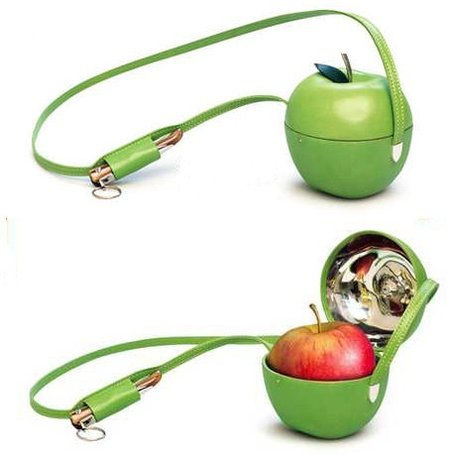 Portamanzanas verde muy curioso