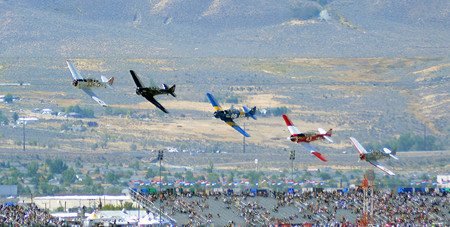 North American T 6 Texan Race Start 2014 Reno Air Races Photo D Ramey Logan
