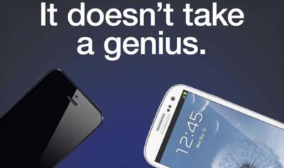 Samsung compara su Galaxy S3 con iPhone 5 en un anuncio, imagen de la semana