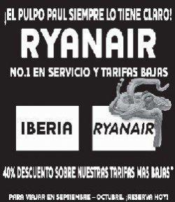 Ryanair sigue con su publicidad creativa