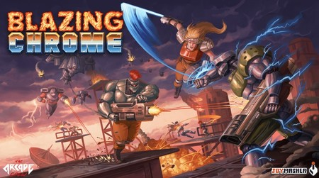 Blazing Chrome, el run and gun y sucesor espiritual de Contra, nos muestra a sus jefes finales con este épico adelanto