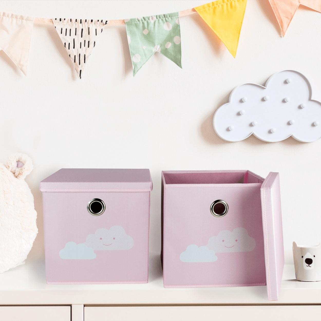 Caja de almacenaje con tapa