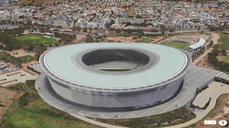 Vista Flyover de los Mapas de Apple (Ciudad del Cabo)
