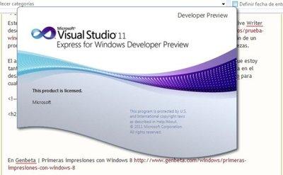 Proyecto Web con  Visual Studio 11 Developer Preview