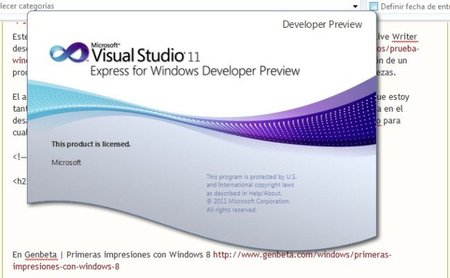 Proyecto Web con  Visual Studio 11 Developer Preview