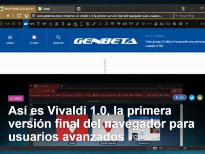 Vivaldi lanza su versión 1.2 con más gestos de ratón y nuevas opciones de personalización