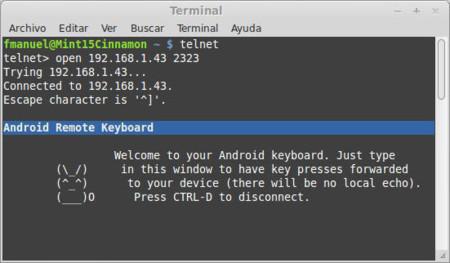 Cliente Telnet de Linux Mint