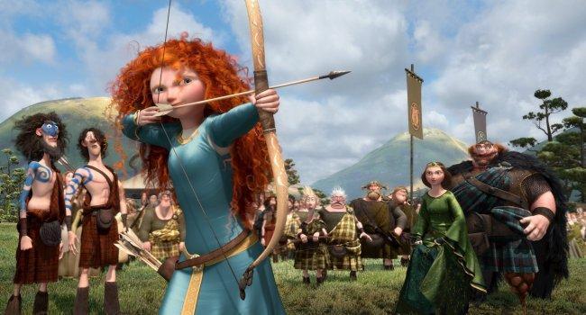 Merida y el resto de protagonistas de 'Brave (Indomable)'
