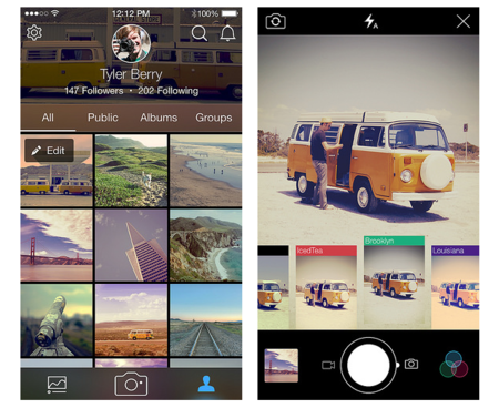 Flickr apuesta por parecerse a Instagram con su nueva app para móviles