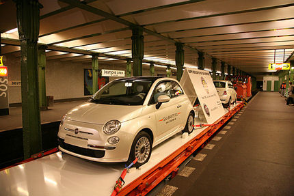 El Fiat 500 se cuela hasta en el Metro de Berlín