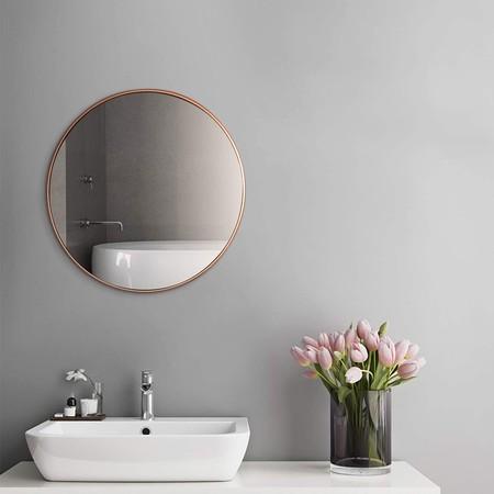 espejo en oro rosa