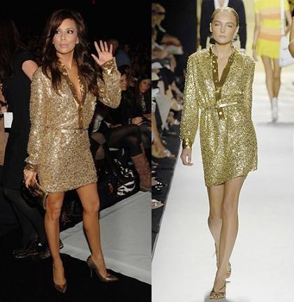 Eva Longoria de Michael Kors en la Semana de la Moda de Nueva York