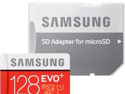 Tarjeta de memoria microSD de 128 GB Samsung EVO+ por 38,79 euros