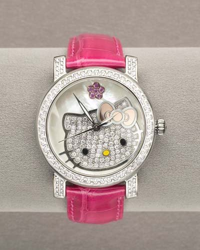Reloj de Hello Kitty con diamantes