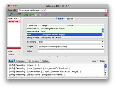 Selenium, herramientas para testar web apps