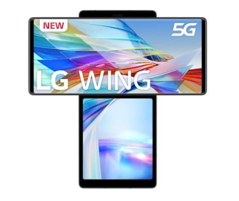 LG Wing 5G 8 GB + 128 GB Aurora Gray móvil libre