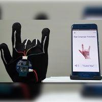 Este guante permite traducir el lenguaje de signos en tiempo real