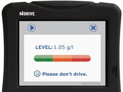Ndrive G400, GPS con alcoholímetro