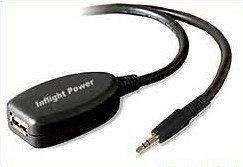 Dispositivo para tomar energía de la salida de audio del avión