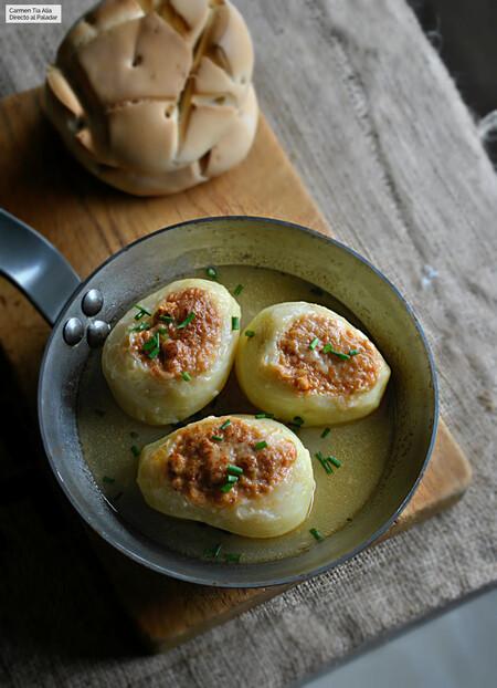 Patatas Rellenas De Falsa Bolonesa