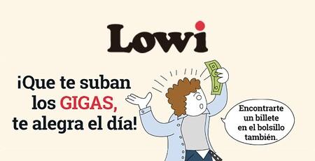 Lowi sube los gigas de todas sus tarifas: hasta 10 GB más sin coste