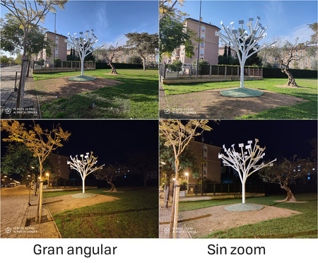 Comparativa de imágenes tomadas con el gran angular y con el sensor principal