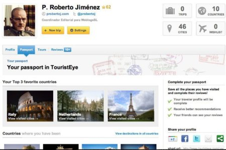 """Tourist Eye lanza su """"pasaporte"""", actualiza sus aplicaciones para iPhone y Android y da una salida a los usuarios de Gowalla"""