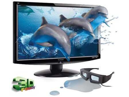 ViewSonic V3D245vm LED, el 3D se libra del cable