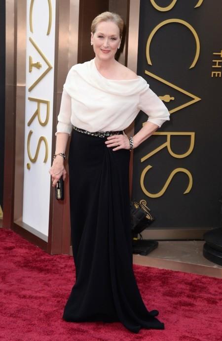 Meryl Streep look oscar 2014