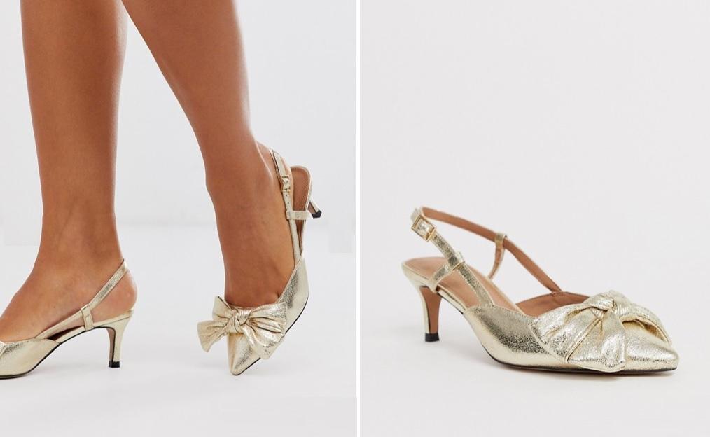 Zapatos destalonados con lazo