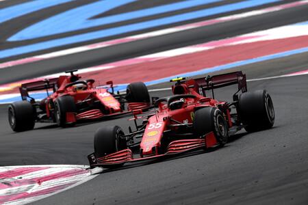 Sainz Leclerc Francia F1 2021