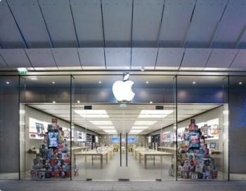 Entrada a la Apple Store en el centro comercial Odysseum