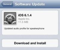 iOS 6.1.4 ya disponible, sólo para el iPhone 5