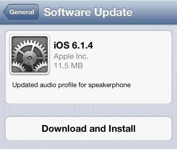 iOS 6.1.4 iphone 5