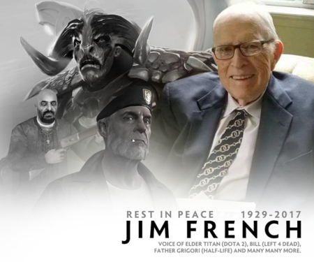 Fallece Jim French, la voz de Elder Titan en Dota 2