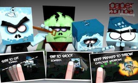 Paper Zombie, tipos de armas
