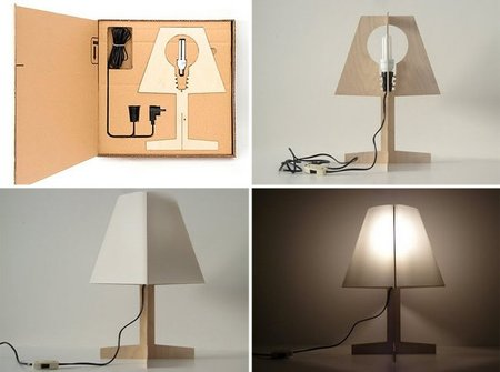 Una lámpara minimalista fácil de montar
