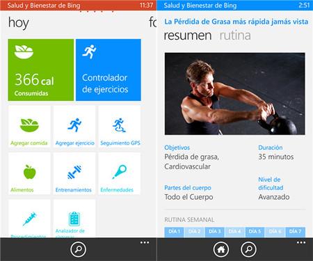 Salud y Bienestar de Bing