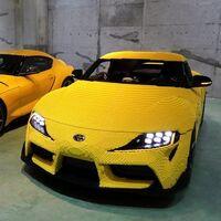 Toyota y LEGO crean un Supra de más de 480 mil piezas para conmemorar su aniversario