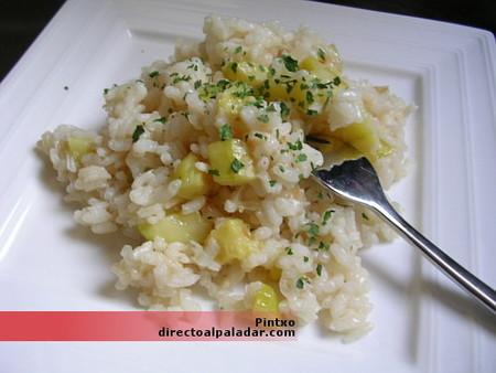 Receta de arroz con calabacín y parmesano